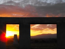 Sunset at stonehenge by Obey-the-soapbubble