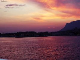 Sunset in Ponza by 3divine