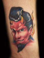 1950's devil tattoo by hatefulss