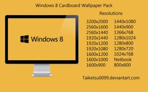 Windows 8 Cardboard Wallpaper Pack by Taiketsu0099 by Taiketsu0099