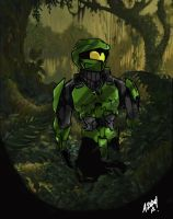 Master Chief Junglin' by JustinGNapoleon