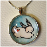 Bunny Pendant by cellsdividing