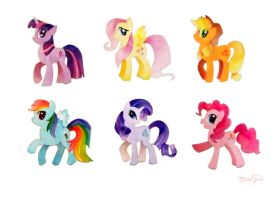 My Little Pony Paper Cutouts by Ebae