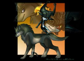 Midna and WolfLink by ElyFlycorn