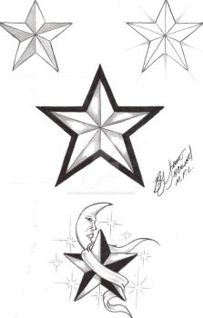 nautical star flash 1 by marked4lifetattoos