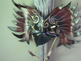 Raven, leather mask by faerywhere