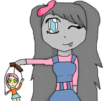 Lola trying for Puppet making club by sunnygirl979