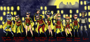 Holy Flock of Robins, Batman! by DaPandaBanda