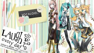 Vocaloid Wallpaper by chibiTSUNDERE