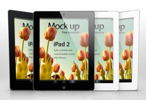 Free iPad 2 Psd Vector Mockup Template by Pixeden