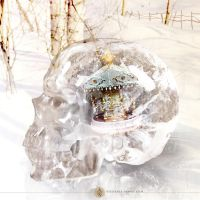 Snow Globe, Carousel in winter by Stefania-Maho-Usai