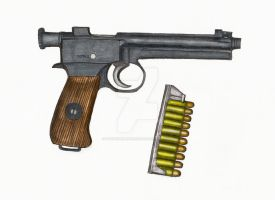 Roth-Steyr Model 1907 Pistol by stopsigndrawer81