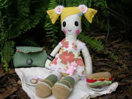 Holly doll: time for a picnic by restlesswillow