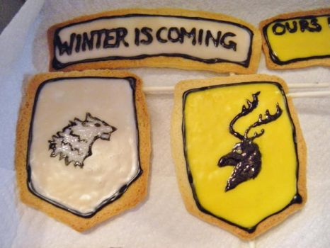 House Stark and House Baratheon Sugar Cookies~ by Stephanefalies