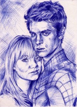 Peter Parker and Gwen Stacy by lilhydra