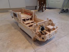 Double Mandarin Orange Crate Troop Carrier WIP by ShayHahn