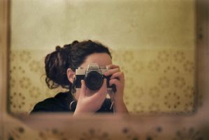 selfportrait with minolta by veca