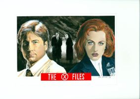 X-Files Painting by Ken-Branch