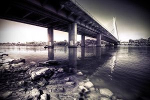 Bridge in Warsaw by fL0urish
