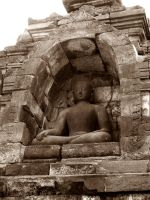 Borobudur XVIII - Calling the Earth to be witness by in2ni
