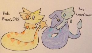 A Duo of Serpentine Fakemon! by pheonix548