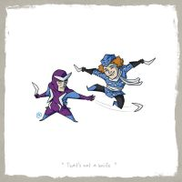 Little Friends - Boomerang and Captain Boomerang by darrenrawlings
