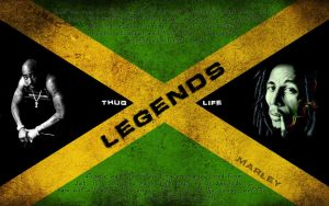 2pac and Bob Marley... legends by curtisblade