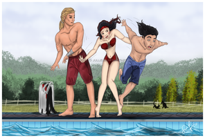Thrown into the Pool by Jullelin