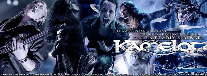 Kamelot - Band Collage Facebook Timeline Cover by xandra73