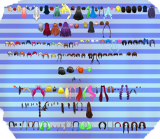 MMD Hair Pack 2 by MMD3DCGParts