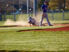 Sliding into third by sakaphotogrfx