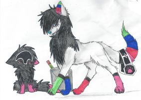 PAUL and little wolf by K0MPY