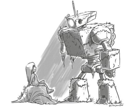 The Old Robot by SupaCrikeyDave