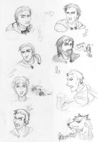 NWN2 sketches 1 by Cerviero