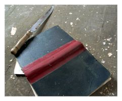 knife and hymnal by J-Oliver