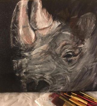 Black Rhino by goshilpa