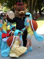 Squirtle Girls with Pedobear by LiliNeko