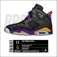 "Air Jordan 6 ""Lakers"" alt by BBoyKai91"