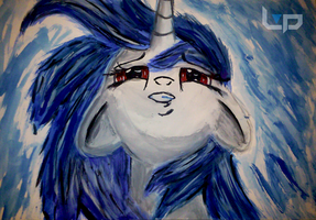 Vinyl Scratch - Akvarel (Watercolour) painting by DJChaoss