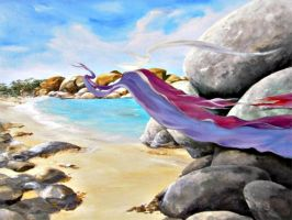 RIBBON ON THE BEACH by Ensomniac