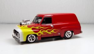 Johnny Lightning 1955 Ford Panel Delivery by Firehawk73-2012