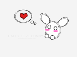Happy love bunny by Hicchan