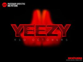 Free Yeezy Red Octobers Photoshop Layer Style by Industrykidz