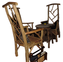 Wooden Chair and Table Set by WDWParksGal-Stock