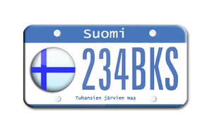 Finland License plates by sneakymonkey04
