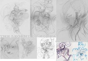 Legend of Korra Sketch Dump by Tsubasa-No-Kami