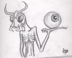 Alien and eye by CrazyScorpio