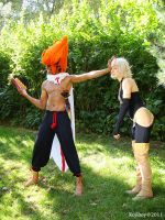 Wakfu cosplay  Iop reading by Cosplay-Spirit-Team