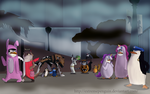 Halloween in Central Park Zoo by ExtremePenguin
