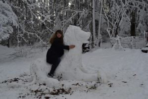 The Snow Lion by AmbitiousArtisan